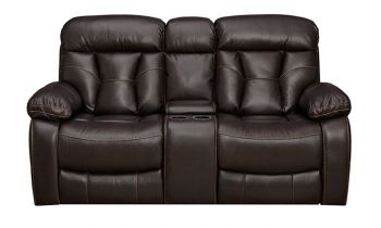 Furny Porch Two Seater With Storage Recliner Sofa (Brown)
