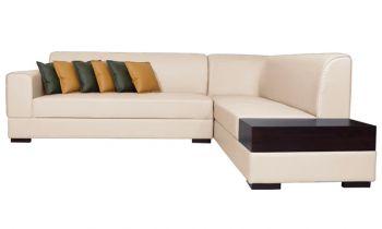 Furny Alen Six Seater L Shape RHS Sofa (Cream)