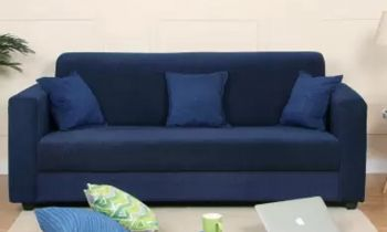 Furny Arrio Three Seater Sofa (Blue)