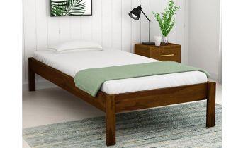 Furny Canon Teak Wood Single Size Bed Without Storage (Teak Polish)