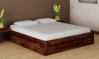 Furny Canon Teak Wood  Bed With Box Storage (Teak Polish)