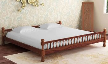 Furny Addison Teak Wood Bed (Teak Polish)