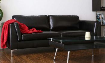 Furny Samuel Three Seater Leatherette Sofa (Black)