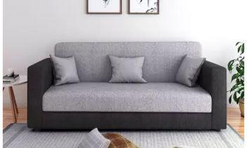Furny CasaLiving Three Seater Sofa (Grey-Black)