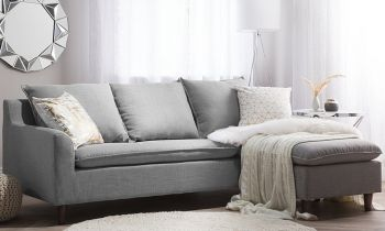 Furny Elvis Four Seater Interchangeable Sofa (Light Grey)
