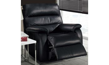 Furny Dalvin One Seater Leatherette Recliner (Black)