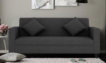 Furny Diana Three Seater Sofa (Dark Grey)