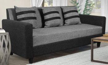 Furny Alice Three Seater Sofa (Light Grey-Black)