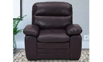 Furny Astro One Seater Leatherette Sofa (Brown)