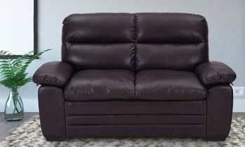 Furny Astro Two Seater Leatherette Sofa (Brown)
