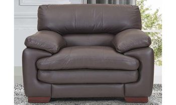 Furny Melbourne One Seater Leatherette Premium Sofa (Brown)