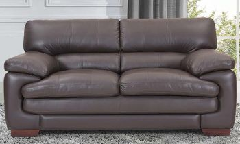 Furny Melbourne Two Seater Leatherette Sofa (Brown)