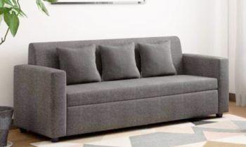 Furny Lexus Three Seater Sofa (Light Grey)
