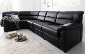 Furny Harmonia Six Seater U Shaped Modular Corner Sofa (Black)