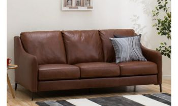 Furny Adonis Three Seater Sofa (Brown)