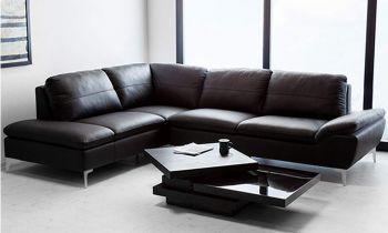 Furny Casafurnish Brando Five Seater L shape LHS Sofa (Black)