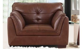 Furny Webster One Seater Sofa (Brown)