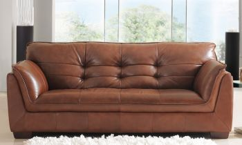 Furny Webster Three Seater Sofa (Brown)