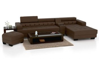 Furny Furnterior L-Shape RHS Six Seater Magestic Leatherette Sofa Set