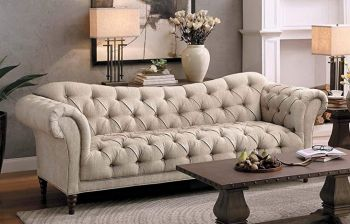 Furny Nicobar Three Seater Sofa (Cream)
