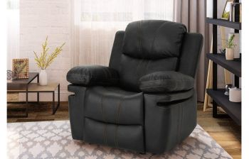 Furny Michael One Seater Recliner (Black)