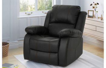 Furny Divano One Seater Recliner (Black)