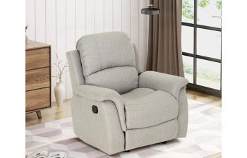 Furny Ravenna One Seater Recliner (Light Grey)