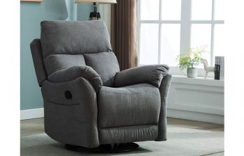 Furny Glide One Seater Swivel Recliner (Dark Grey)
