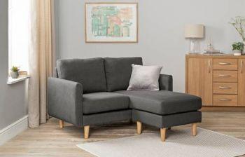 Furny Barton Three seater L Shape Interchangeable Sofa (Dark Grey)