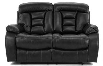 Furny Genos Two Seater Recliner Sofa (Black)