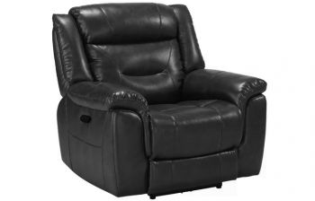 Furny Hillsby One Seater Recliner Sofa (Black)