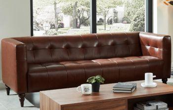 Furny Edwin Three Seater Sofa (Brown)