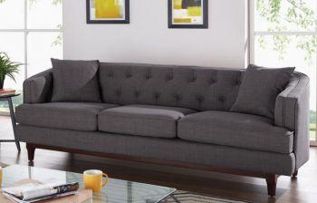 Furny Harlow Three Seater Sofa (Dark Grey)