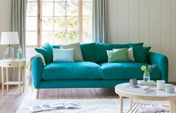 Furny Squish Three Seater Fluffy Sofa (Teal)