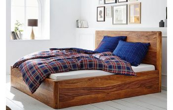 Furny Fabulo Teak  Wood Bed with Storage (Teak Polish)