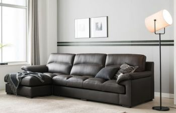 Furny Barbara Four Seater LHS L Shape Sofa (Grey)