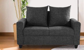 Furny Juan Two Seater Sofa (Black)