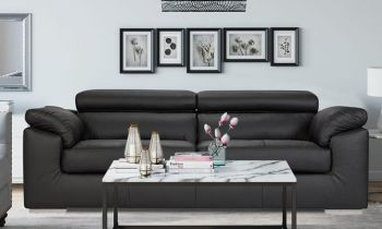 Furny Livingston Three Seater Sofa (Black)