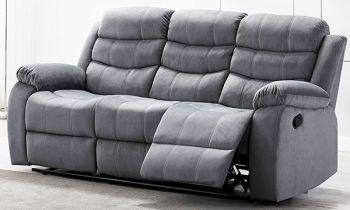 Furny Rochas Three Seater Recliner Sofa in Fabric