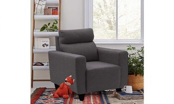 Furny Bravson One Seater Sofa in Fabric (Dark Grey)