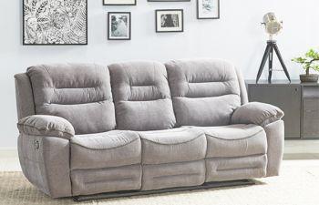 Furny Larossa 3 Seater Recliner Sofa For Living Room (Light Grey)