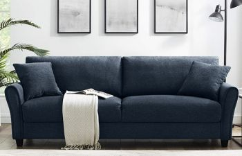 Furny Vonada 3 Seater Sofa Set For Living Room in Fabric