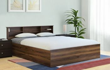 Furny Cristalo Heavy Duty Engineered Wood Bed with Box Storage - 15mm Branded Engineered Wood