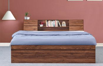 Furny Dazzle Heavy Duty Engineered Wood Bed with Box Storage - 15mm Branded Engineered Wood