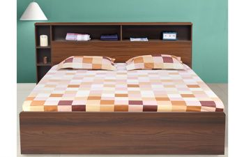 Furny Delitecom Heavy Duty Engineered Wood Bed with Box Storage - 15mm Branded Engineered Wood