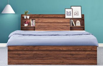 Furny Interio Heavy Duty Engineered Wood Bed with Box Storage - 15mm Branded Engineered Wood