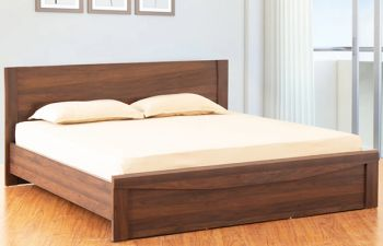 Furny Woodslan Heavy Duty Engineered Wood Bed without Storage - 15mm Branded Engineered Wood
