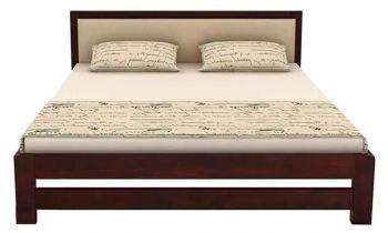 Furny Azure Teak Wood Bed (Teak Polish)