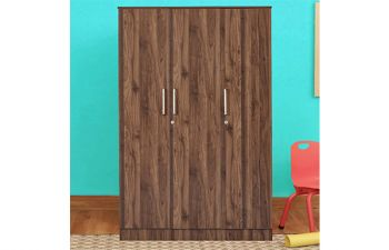 Furny Tanvar Engineered Wood 3 Door Wardrobe with Drawer
