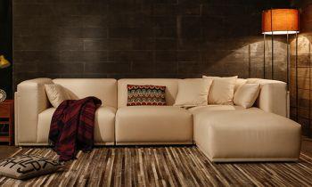 Furny Armonia Four Seater Interchangeable Sofa (Cream)